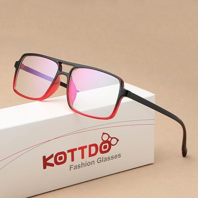 2019 Do Vintage Da Moda Duplo Feixe Espelho Plano Óculos Claros Óculos de Armação Homens Mulheres Tendência Retro Dos Vidros Do Olho Óculos