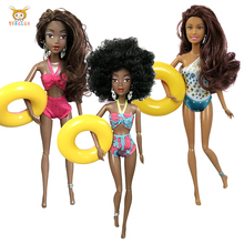 2019 hot 31cm girl Baby Dolls The bikini girl doll For Girls Movable Joint African Doll To
