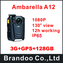 Wholesale prices 3G+GPS+128GB Portable 1080P Police body worn video DVR camera