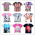 Tlc meninas de banda / Marilyn Monroe / rihanna impressão 3d t camisa Harajuku mulheres / homens street wear camisetas plus size S-XXL