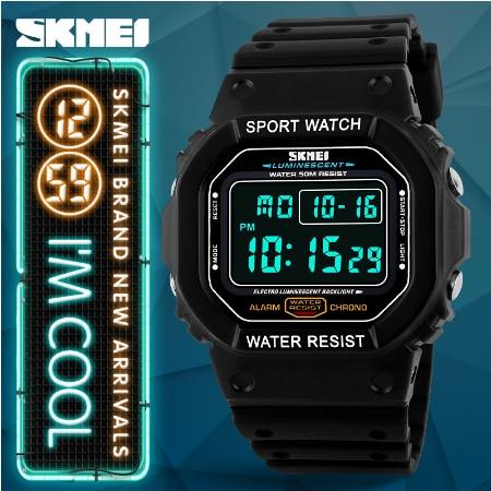 Relojes de marca Skmei para hombre, reloj de pulsera para hombre con LED Digital militar 50 M, reloj de pulsera deportivo al aire libre para hombre - 3
