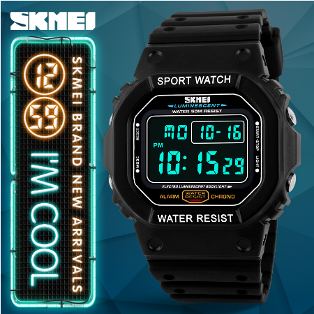 Skmei brand watches Men Military LED Digital Diving Men's Watch 50M Fashion Sport Outdoor Men's Wristwatch Watch - 3