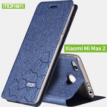 Xiao Mi Max 2 Чехол Мягкая силиконовая задняя флип кожаный чехол MOFI оригинальный Xiaomi Mi Max 2 футляр ТПУ Fundas телефона САППУ