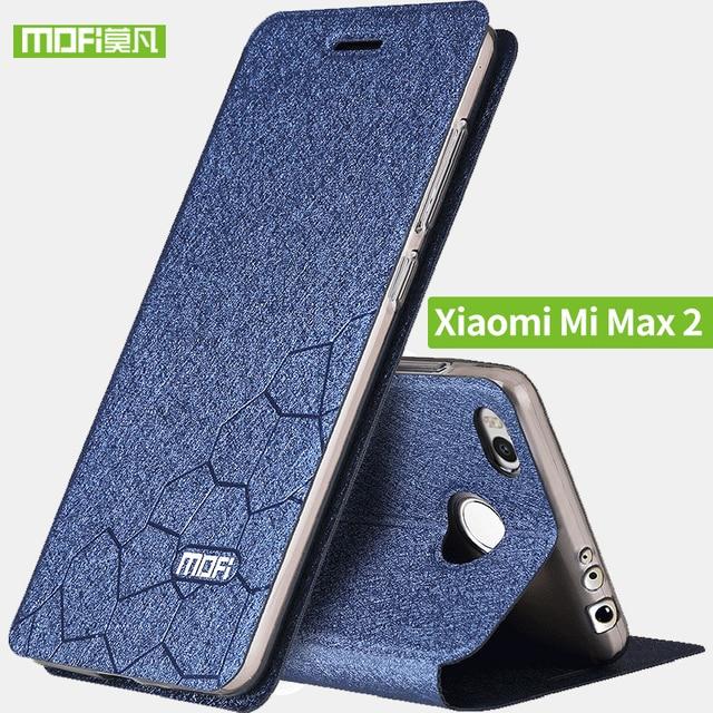 Xiaomi mi max 2 case soft silicone back flip leather cover Mofi original xiaomi mi max2 case hard TPU fundas phone bag capas