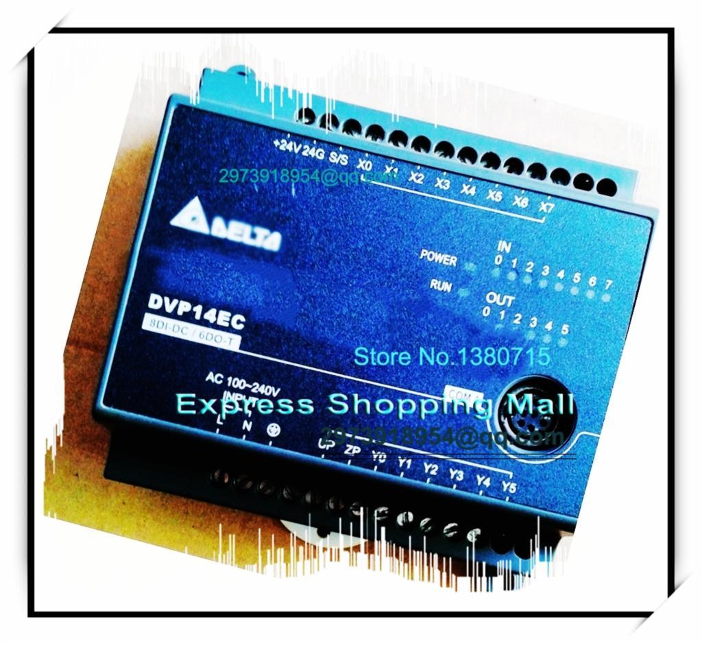 ФОТО New Original DVP14EC00T3 Delta PLC EC3 series 100-240VAC 8DI 6DO Transistor output