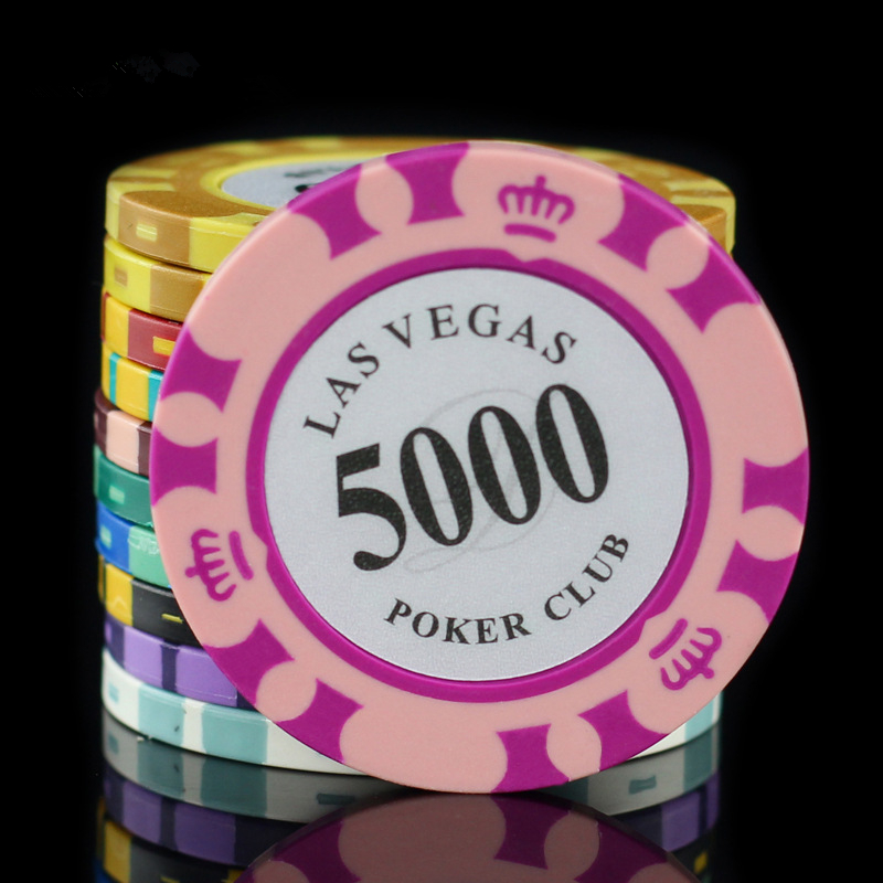 50 Purple Crown /& Dice 14g Clay Poker Chips New