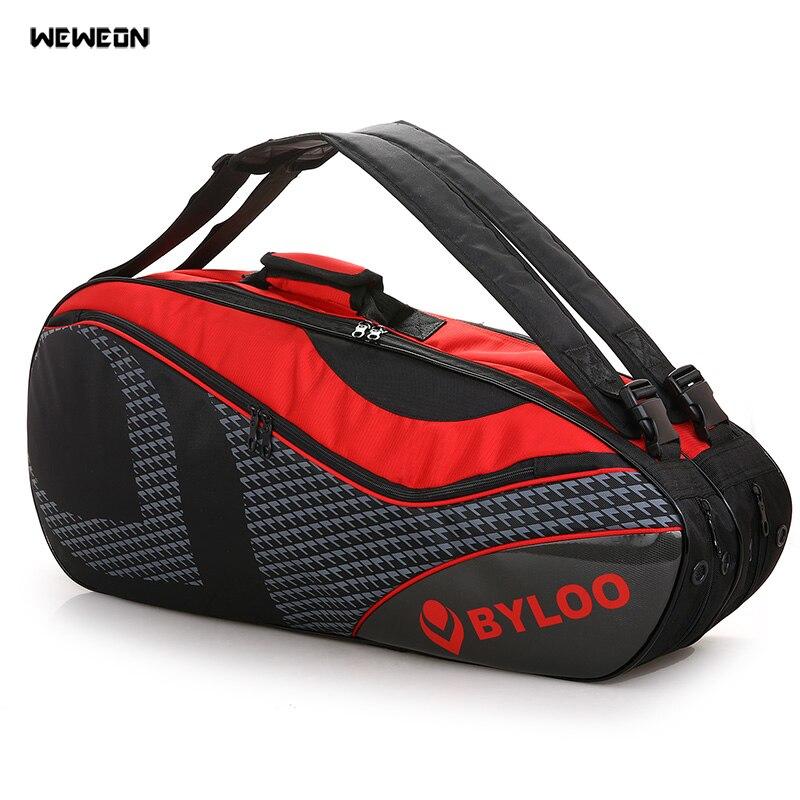 Sac de raquette de Tennis épais professionnel sac à bandoulière de raquette de Badminton imperméable grand sac à dos de Sport de Tennis pour le stockage de chaussures