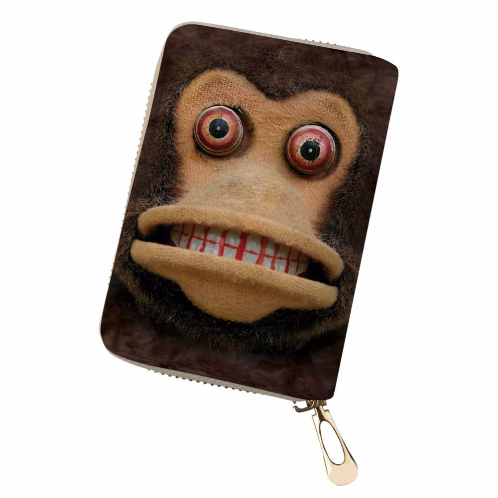 Customized Clutch Walle Red eyed monkey Women Men Credit Business Bank Cards Holder Passport PU Leather pokemon card sac