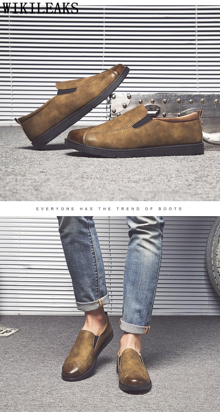 moda masculina sapatos casuais venda quente sapatos casuais couro mocassins homme