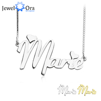 Personalized 925 Sterling Silver Name Necklace DIY Name Jewelry Customize Name Necklace Best Birthday Gift JewelOra
