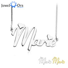 Personalized 925 Sterling Silver Name Necklace DIY Name jewelry Customize Name Necklace Best Birthday Gift (JewelOra NE101374) цена