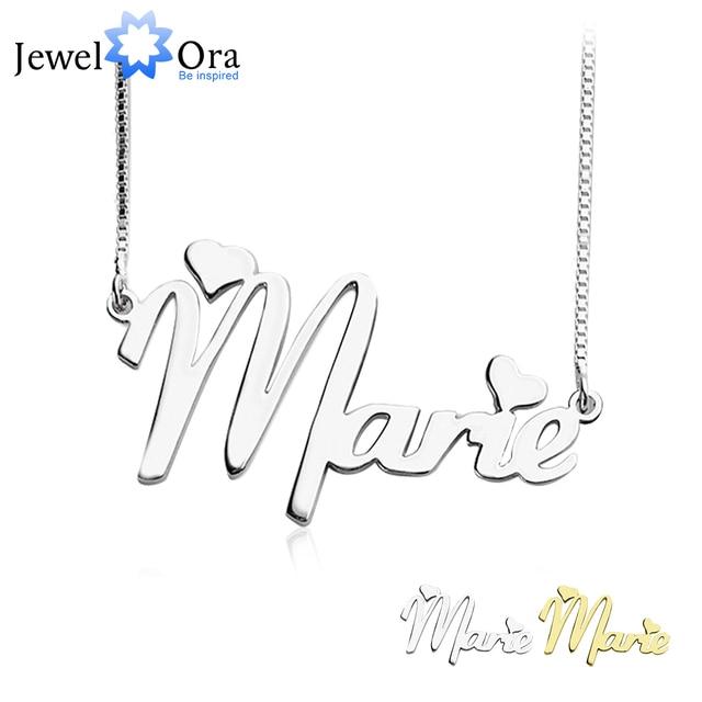 Personalized customize name pendant necklace 925 sterling silver personalized customize name pendant necklace 925 sterling silver jewelry hebrew name necklace birthday gift jewelora aloadofball Gallery