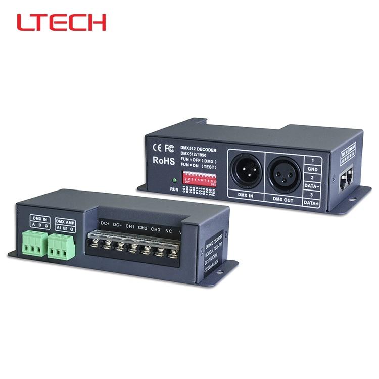 ФОТО LT-840-6A;DMX-PWM CV led decoder;DC5-24V input;6A*4CH output;0-100% Dimming