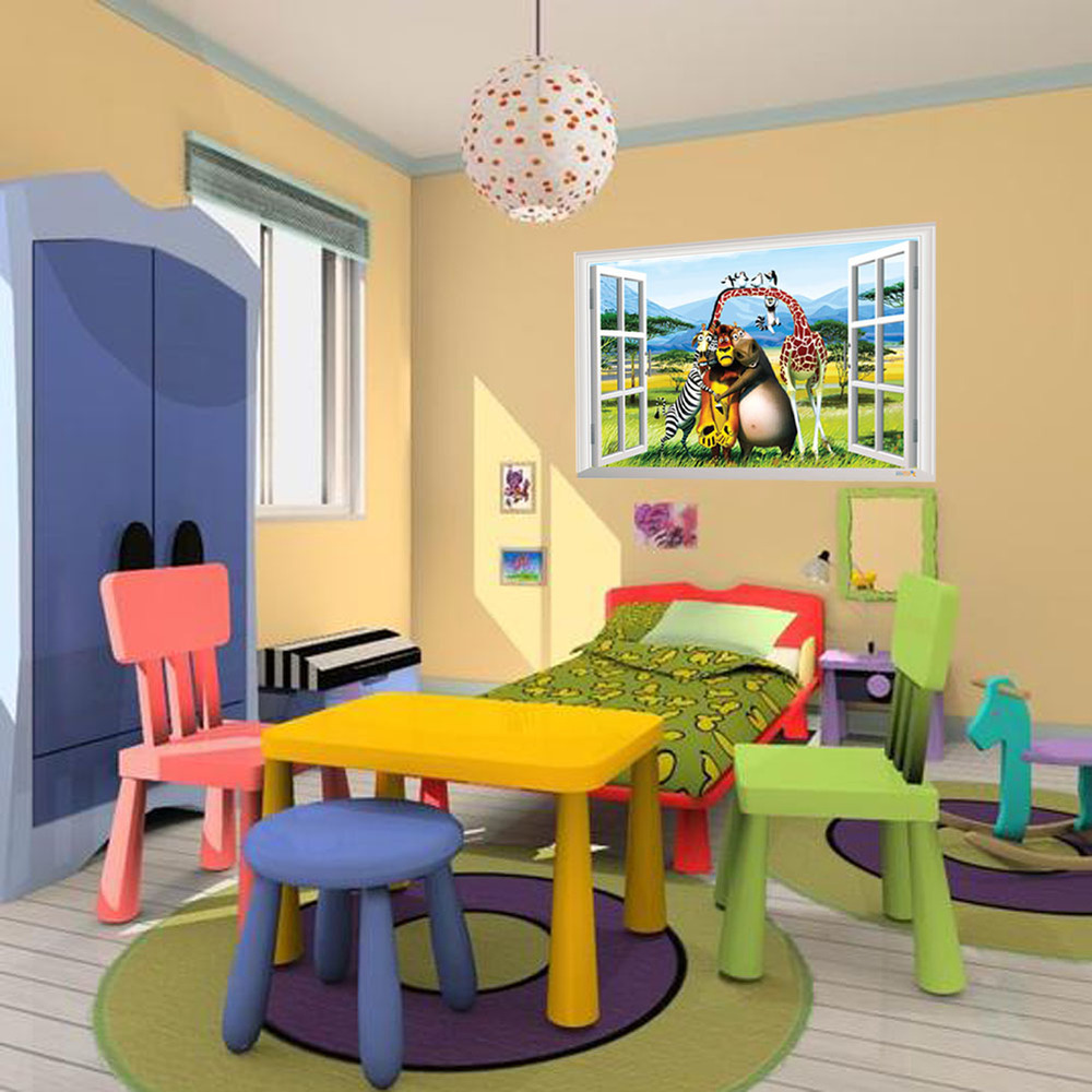 Best Selling Toy Story 3 Cartoon 3D Window Scenery Wall Decals ...