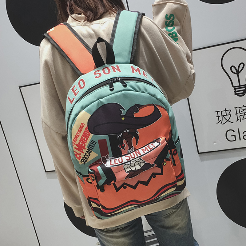 Preppy Style School Bag Wemen Korean Harajuku Ulzzang High School Student Joker Simple Japanese Style Cute