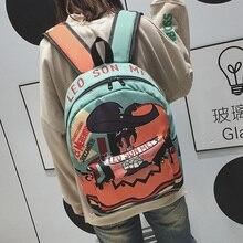 Элегантный дизайн школьная сумка wemen в Корейском стиле Harajuku ulzzang школьник Джокер Простой японский Стиль Симпатичные девушки старинные рюкзак