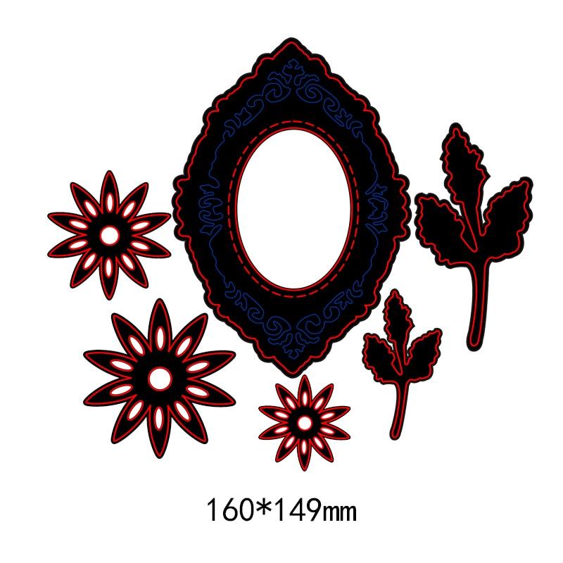 Dies Scrapbooking Flower Leaves Decor METAL CUTTING DIES Craft New Embossing Die Cut Stencils Paper Cards Making festival cards in Cutting Dies from Home Garden