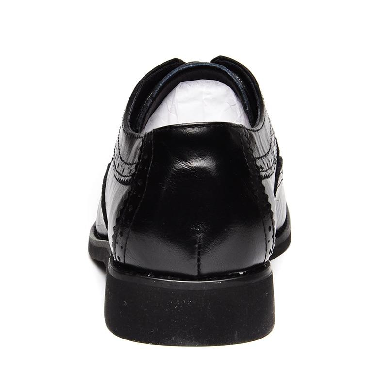 Chaussures Décontractée Luxe En D'affaires Marque Gentleman Homme Classique De Hommes Véritable Robe Mode brown Black Cuir Reetene PqE1x1