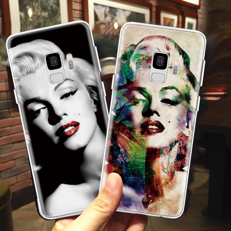 Marilyn Monroe Silicone For TPU Samsung Galaxy J5 2017 J4 Plus J6 2018 J2 J3 <font><b>J7</b></font> J8 Plus Pro Duo Max <font><b>2016</b></font> Prime <font><b>Sexy</b></font> Stunner Case image