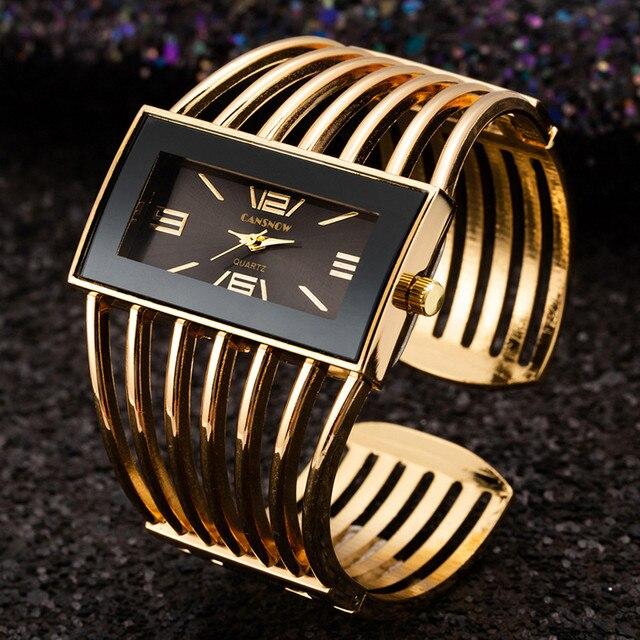 Luxury Gold Wrist Watches Women Bangle Bracelet Watches Casual Ladies Clock Hodi