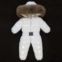 Детский зимний комбинезон с капюшоном для малышей Комбинезоны яркий пуховики с хлопковой подкладкой боди лыжный комбинезон для девочек Зи
