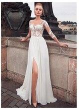 SoDgine Side Split Princess Wedding Dress 2019 Romantic Vestido de noiva  Strapless Bride Gowns Floor Length gown