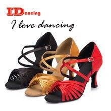 b227460c IDancing бронза танцевальная обувь для женщин Салас женские Вечерние обувь  zapatos de baile latino mujer Новое