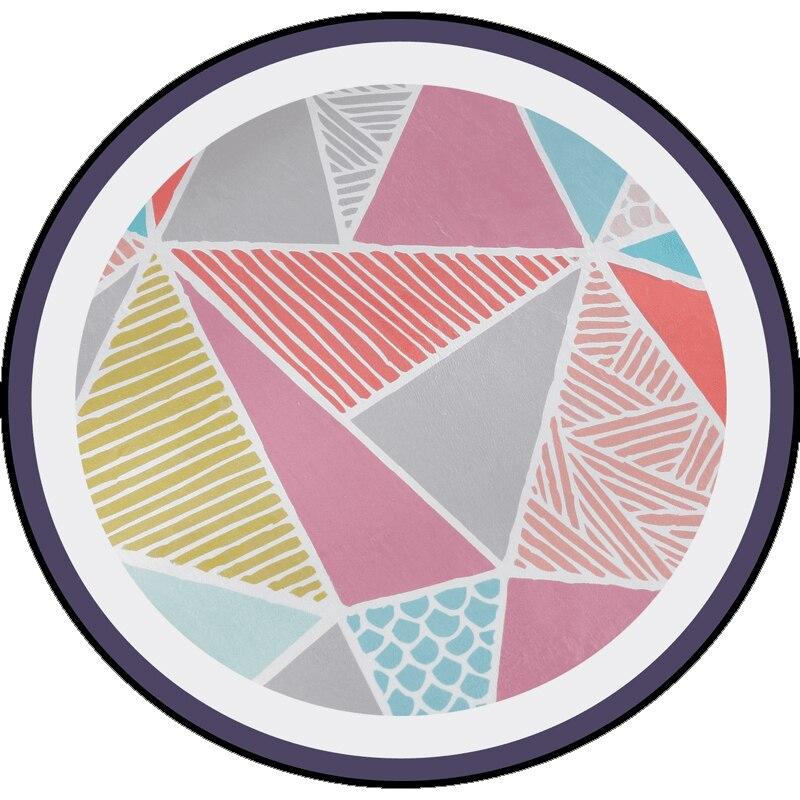 Tapis ronds de treillis de losange de rayure géométrique de l'europe Simple Super doux épaissir le tapis antidérapant pour le salon/chambre d'enfant/enfants