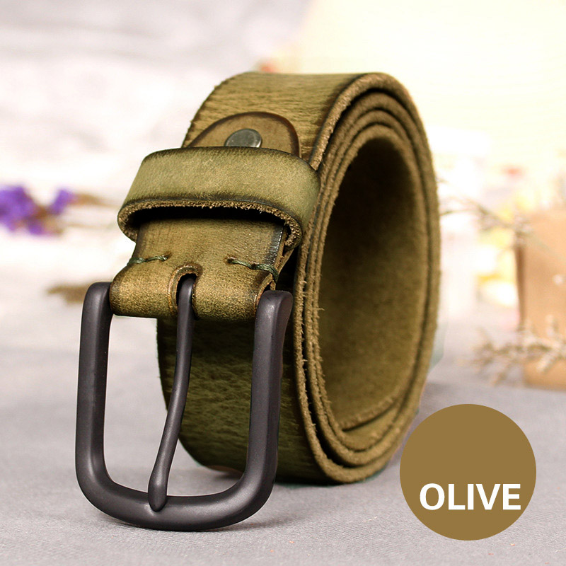Image 5 - Top Cow genuine leather belts for men jeans Do old rusty black buckle retro vintage mens male cowboy belt ceinture hommeleather belts for mengenuine leather beltleather belt -
