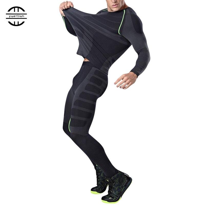 Ru local frete grátis compressão treino de fitness collants correndo conjunto tshirt legging roupas esportivas desix preto ginásio masculino esporte terno