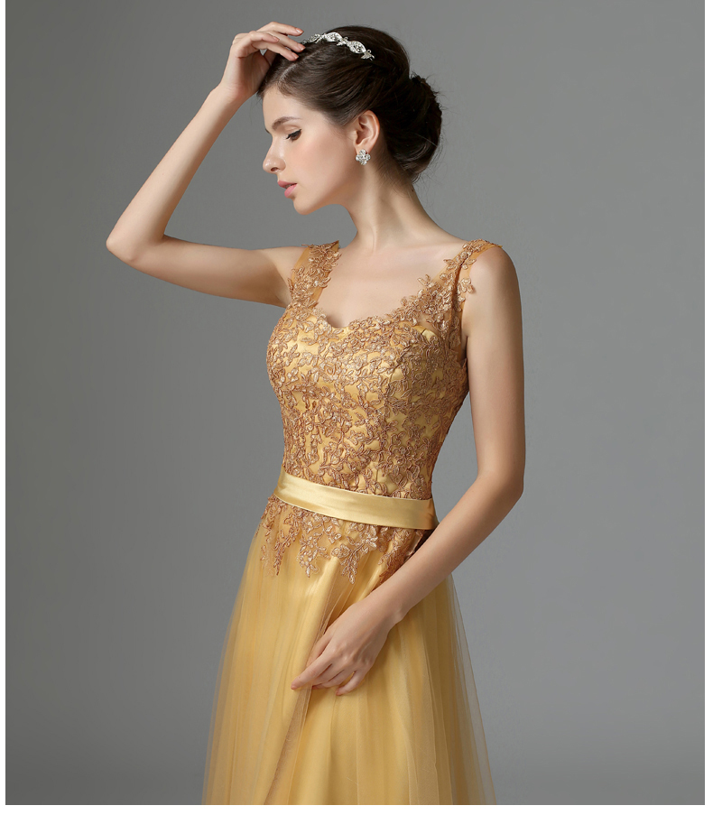 Long Party Dresses 2015 Elegant Floor Length Embroidery Evening ...