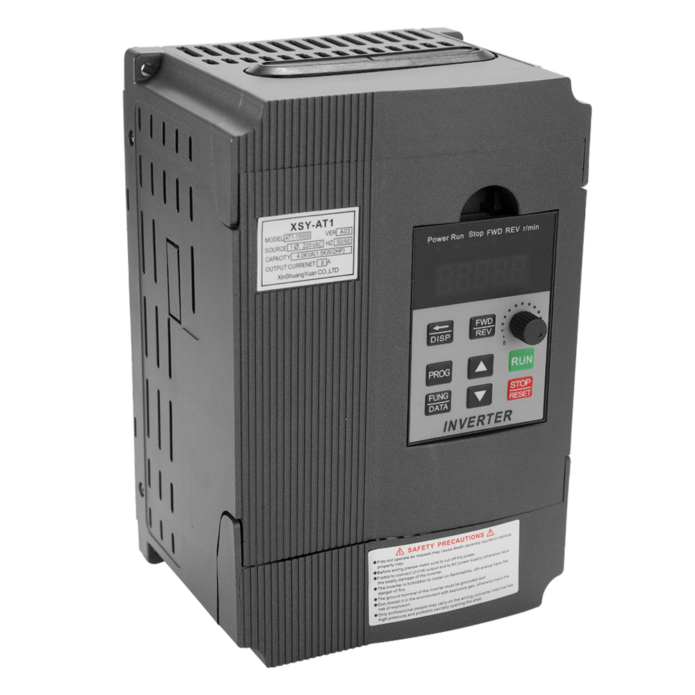 Universal VFD Frequency Speed Controller 2.2KW 12A 220V AC Motor Drive Single Phase In Three Phase Out Variable Inverter AT1 2200S