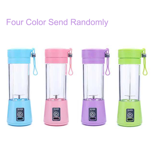 380ML Blender USB Charging Mode Portable Small Juicer Extractor Household Whisk Fruits Mixer Juice Machine Smoothie Maker