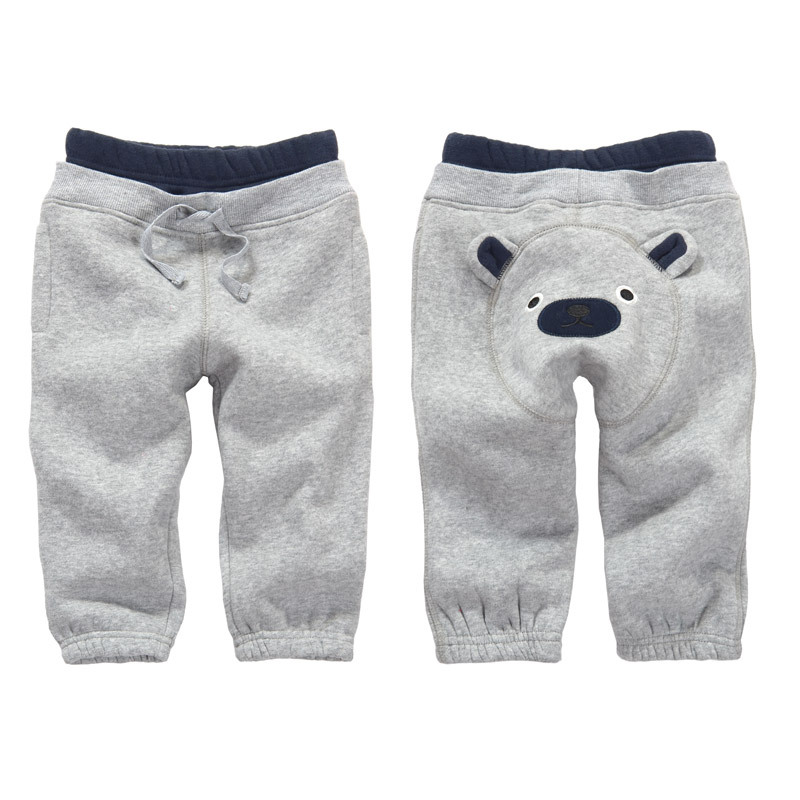 2018 brand winter kids clothes thicken PP pants , cartoon bear style clothes for baby boys clothes ,1-4 Years old Sports costume