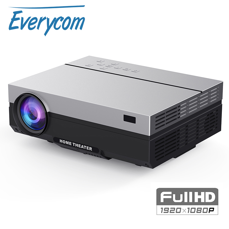 Everycom T26K Real LCD Full HD Projector Native 1080P 5500 Lumens Video Projecteur LED Home Theater HDMI Option WIFI Beamer(China)