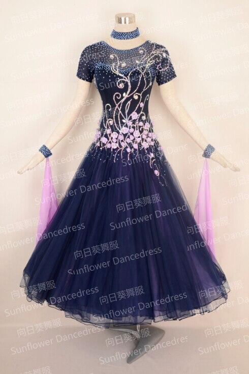 2016Ny stil! Balsal Standard Dance Dress balsalsdans tävling i internationella tävlingar, Waltz Competition Dress