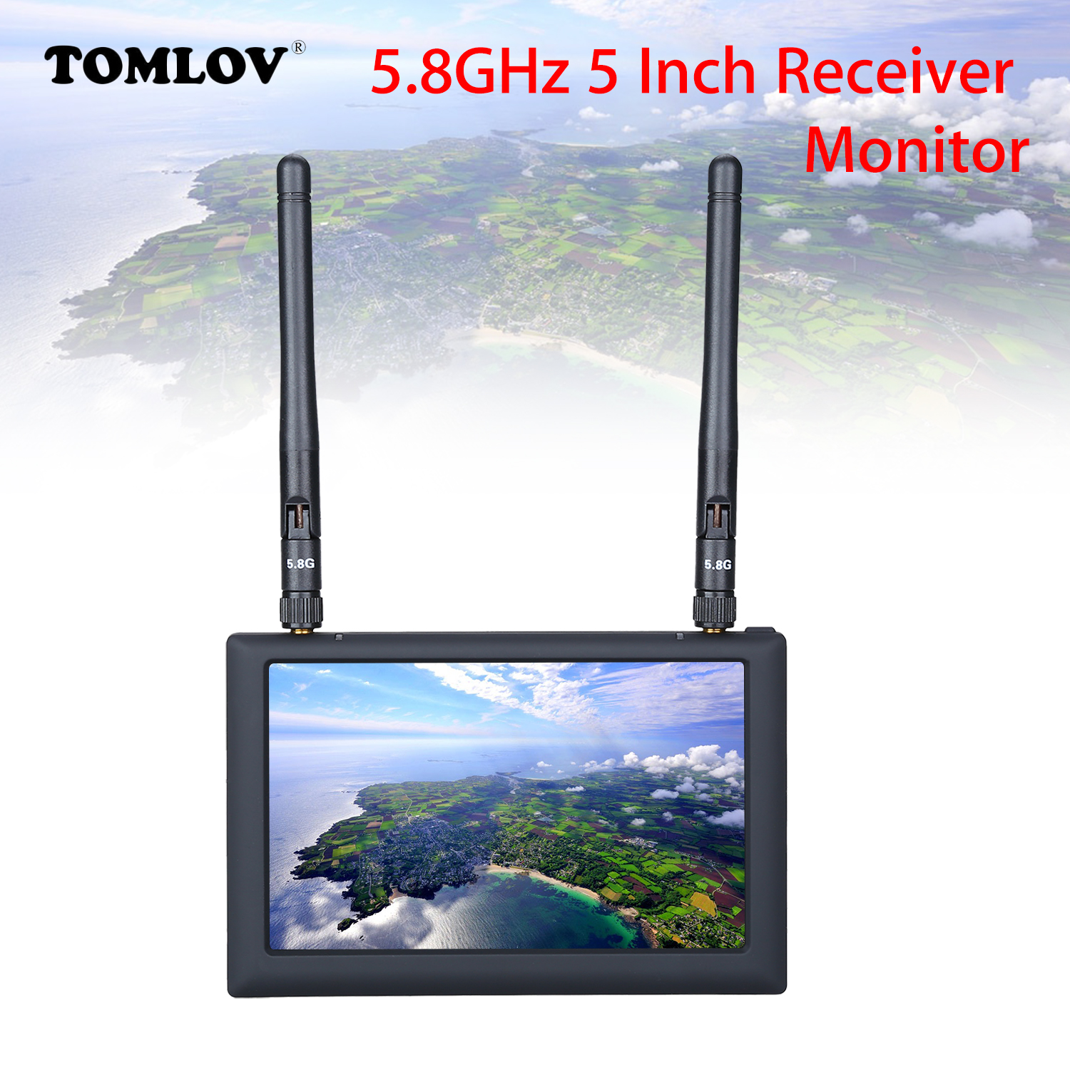 New Fx508 5.8ghz High Brightness 5 Lcd Fpv Monitor Diversity Receiver With Dvr Function 800x480 Pixels 40ch For Rc Quadcopter Parts & Accessories Remote Control Toys