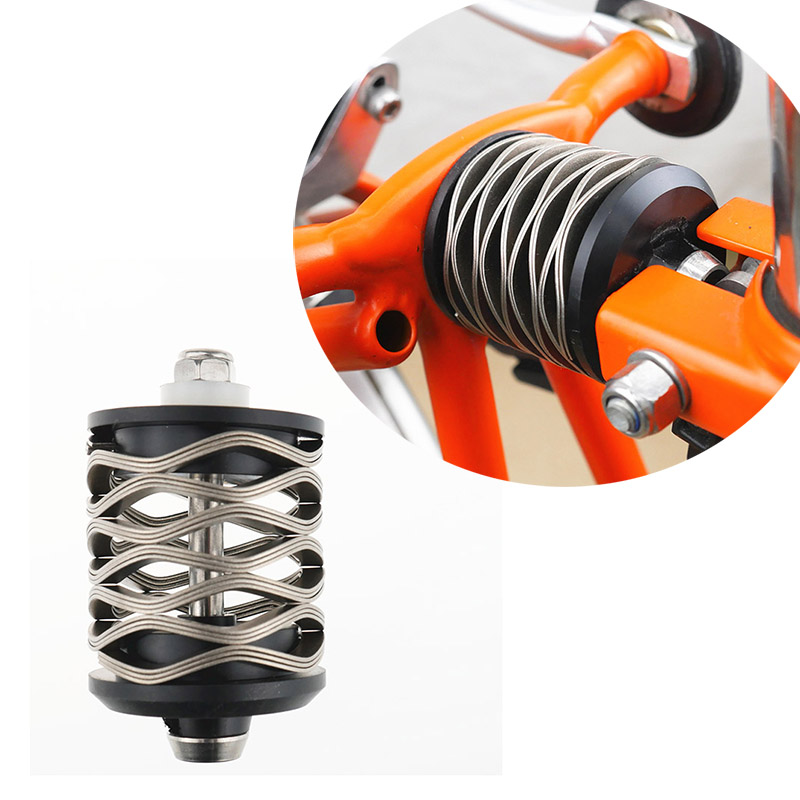 Wave Spring Rear Shock Suspension for Brompton Bicycle Comfortable shock absorbe