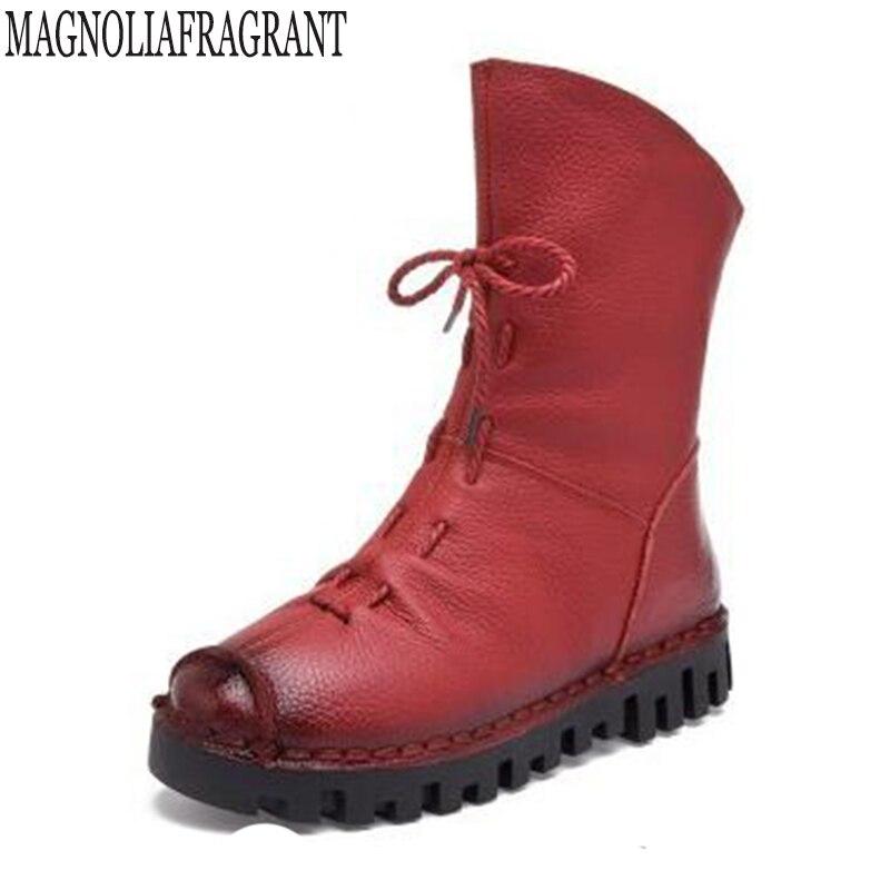 Cuir véritable femmes bottes en caoutchouc femmes chaussures d'hiver Botas Feminina femme mode bottes pour femmes botas mujer z55
