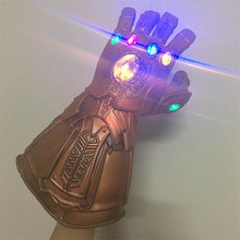Fighting infinite gloves glowing led mask cos Avengers 3 war 1:1 luminous version without