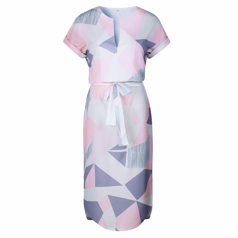 OMCHION Plus μέγεθος 2018 καλοκαιρινό φόρεμα - Γυναικείος ρουχισμός - Φωτογραφία 4