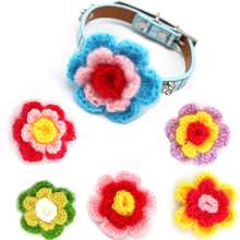 20pcs Dog Collar Flowers Pet Dog Collar Decoration Supplies Soft Cat Dog Party Wedding Accessory Movable Dog Collar Bows