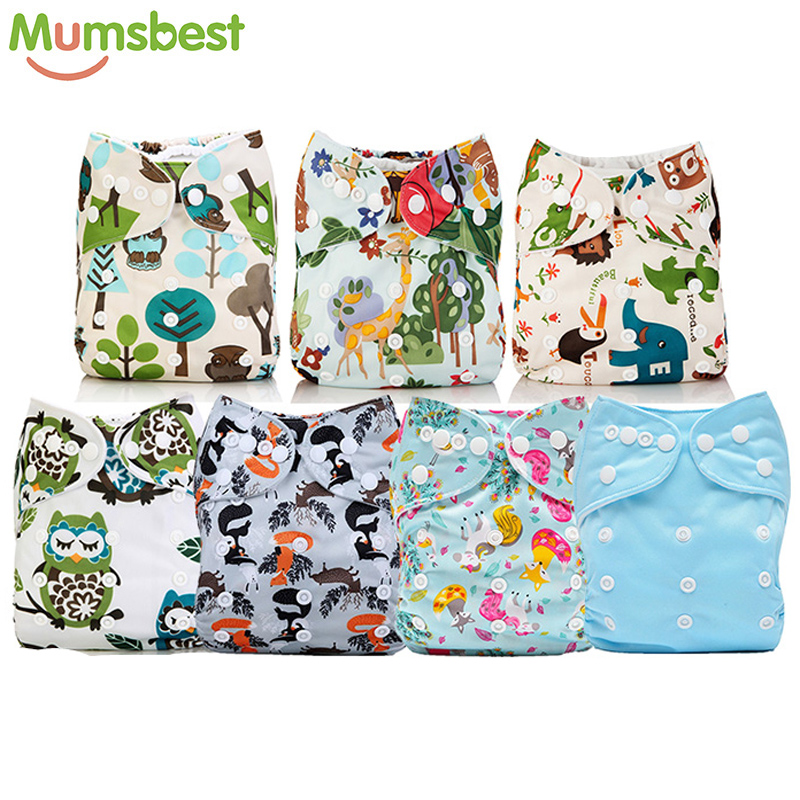 [Mumsbest] 7Pcs/Set Wholesale Diaper Unisex Cute Printed Baby Cloth Diapers Adjustable Washable Babies Nappies Infants Diapers[Mumsbest] 7Pcs/Set Wholesale Diaper Unisex Cute Printed Baby Cloth Diapers Adjustable Washable Babies Nappies Infants Diapers