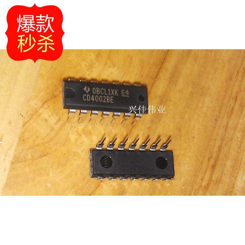 10PCS New original authentic CD4002BE CD4002 DIP14 Dual 4- input NOR gate TI