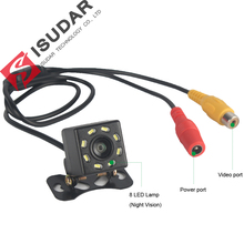 8 LED Night Vision Car Rear View Camera Waterproof 170 Wide Angle HD