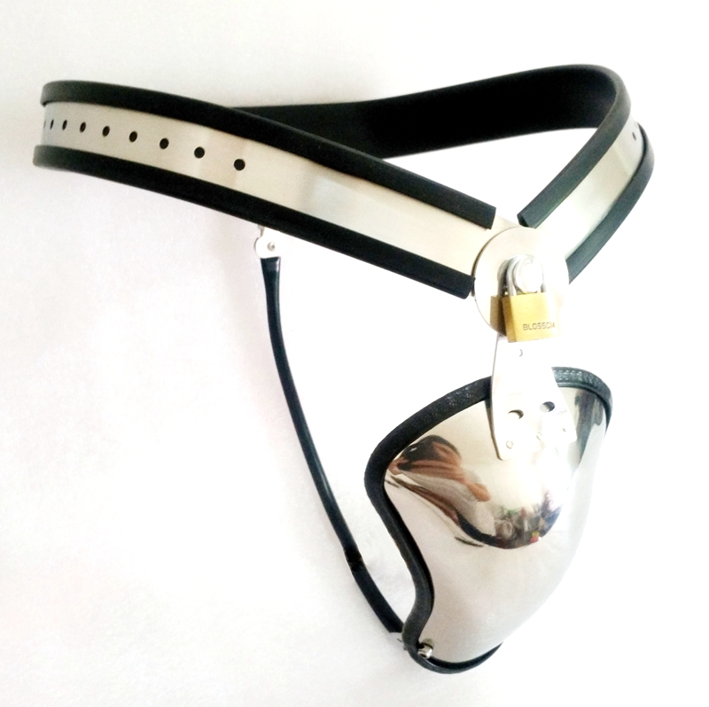 Latest Design Male Chastity Belt Stainless Steel Adjustable Y type Chastity Device Cock Cage BDSM Sex