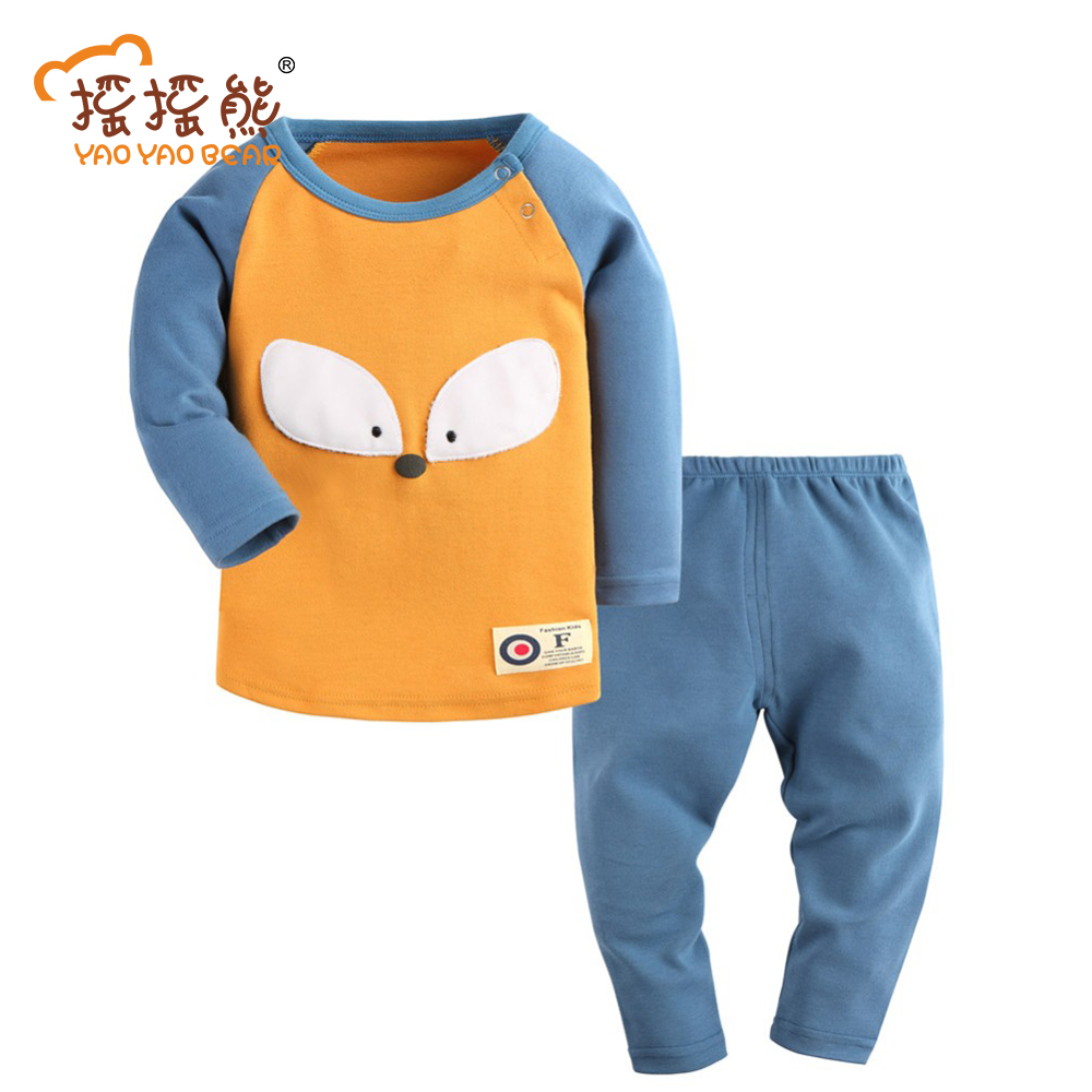 Kid Costume Boys Autumn Style Infant Clothes Baby Clothing Sets Boy Cotton Little Fox Long Sleeve 2pcs Baby Jumpsuit Fotografia