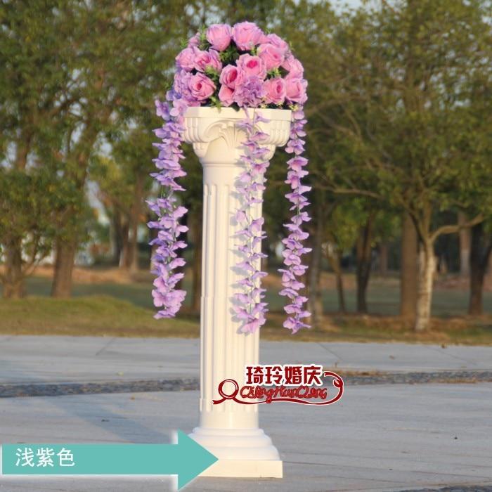 Свадебные композиция Диаметр Цветок свадебное оформление букета цветок для дорожного свинец римская колонна 4 шт./лот