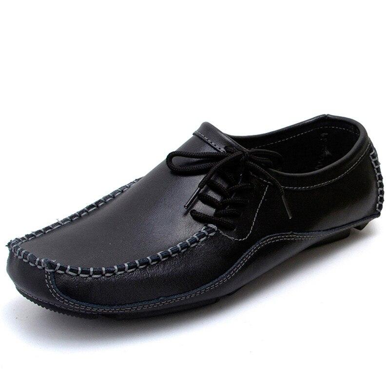Más el Tamaño de Los Hombres Frescos Mocasines Zapatos de Conducción de Moda A E