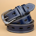 [TG] 2017 New Designer Genuine Leather Women Belt Double Stitching Strap All Match Jeans Female Belts For Women Waistband